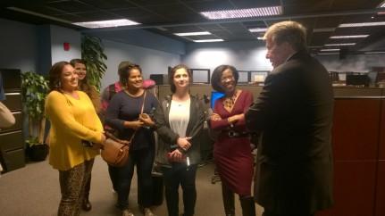 WRAL-TV's David Crabtree speaks to NCSU Journalism Students