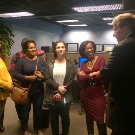 WRAL-TV's David Crabtree speaks to NCSU Journalism Students