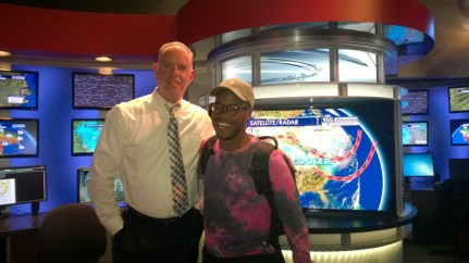 Kai with WRAL's Mike Maze